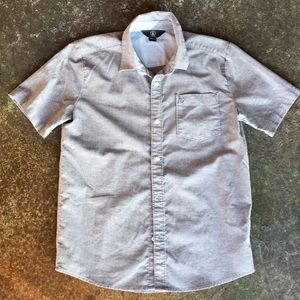 Boys Volcom Gray/Blue/Blk Chambray Shirt